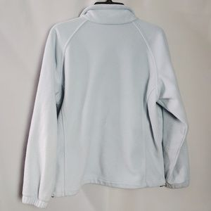 Columbia Tops - Columbia Fleece Light Blue Zip Up Sweatshirt Sz PL